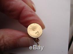 14k YELLOW GOLD GERMAN BEER STEIN Pitcher Charm Pendant 6.6 GRAMS don't opens