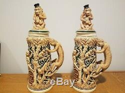 1800's Era German Monkey Beer Stein