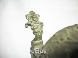 18 Antique German Beer Stein Lidded Raised Figurine Germany Reinhold Hanke Old