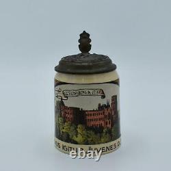 1903 German Beer Stein Mettlach (1526) Heidelberg