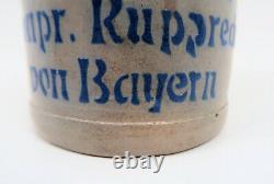1914 Imperial German WW1 antique cermic beer mug stein iron cross Bavarian Army