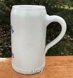 1930s Hiernickel-Bräu, Hassfurt/Bayern, Retired 1L Stoneware German Beer Stein