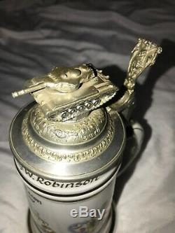 1958 US Military Army 3rd Recon Europe Beer Stein German. Nude Heidelberg