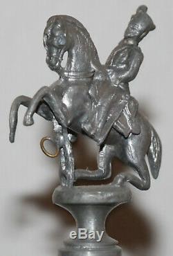 1L Old Antique German Regimental Cavalry or Hussar beer stein marked 1014 by RH