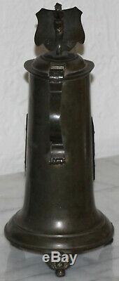 1L Shoemaker Occupational German beer stein Antique Solid Pewter