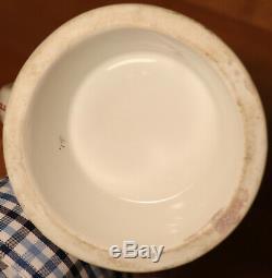 1/2L Old Antique German Regimental Porcelain beer stein Prism lid + lithophane