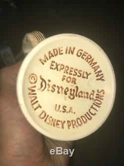 40s DISNEYLAND WALT DISNEY PRODUCTIONS GERMAN CERAMIC BEER STEIN MUG CASTLE LID
