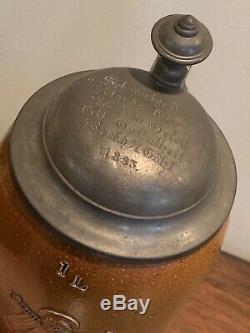 ANTIQUE 18th & 19th CENTURY GERMAN STONEWARE BEER STEIN LOT ROCHLITZ LUNZENAU