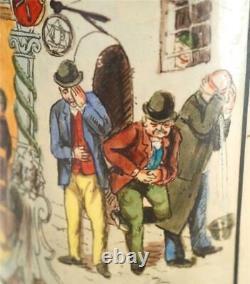 ANTIQUE GERMAN MERKELBACH & WICK PICTORIAL BEER STEIN bi