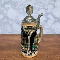 AUTHENTIC Berlin Wall German Beer Stein with Certificate & Picture of full wall