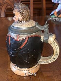 Adolf Diesinger Gym Teacher Gesetzlich Geschutzt German Figural Beer Stein # 697