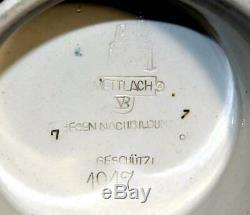 Antique 1891 Mettlach Villeroy Boch Cooper #1947 German 1/2l Lidded Beer Stein
