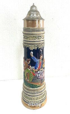 Antique 5L German Beer Stein #3666 Gerz 24 Tall Mint Handarbeit 1 West Germany
