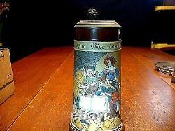 Antique. 5 Liter German Etched #1220 Beer Stein