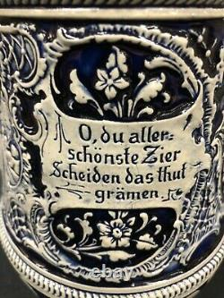 Antique A J Thewalt German Beer Stein 2.0 L Titled Prosit