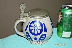 Antique Art Noveau Franz Ringer Signed Munich German Beer Stein By J. Reinemann