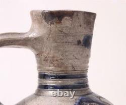 Antique Early German Stoneware Beer Stein Server Enghalskrug Westerwald c. 1680s
