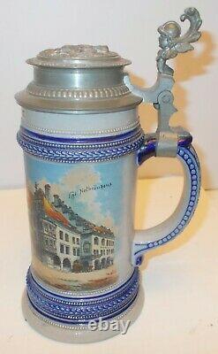 Antique GERMAN Bavaria BEER STEIN MUNICH Munchen CHILD MONK Hofbrauhaus