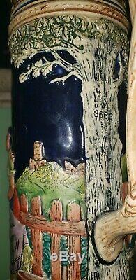Antique GERTZ German Beer Stein, 5 LITER Castle Lid, C. 1936 NOT REPRO