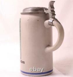 Antique German Beer Stein Shooting Fest Munchen by O. L. Naegele c. 1927