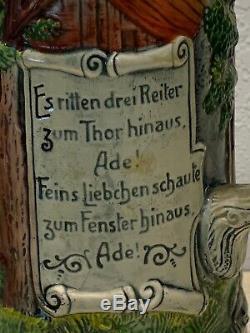 Antique German Beer Stein Simon Peter Gerz 15 Nice Feins Sweetheart