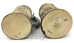 Antique German Beer Steins JW Remy & Thewalt 1334 Gift decor -Mettlach Era Gift