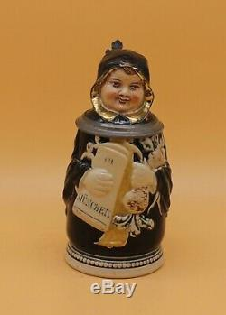 Antique German Character Beer Stein Munich Child by J. Reinemann Character old