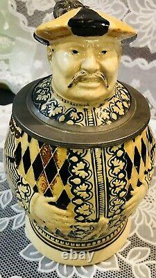 Antique German Chinaman Beer Stein By Markelbach & Wick
