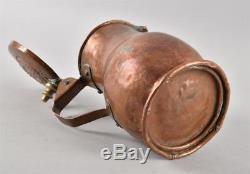 Antique German Copper Hand-hammered Beer Stein Pitcher Nuremberg c. 1750s