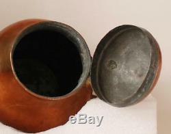 Antique German Copper Hand-hammered Beer Stein Pitcher c. Late 1700s -early 1800s