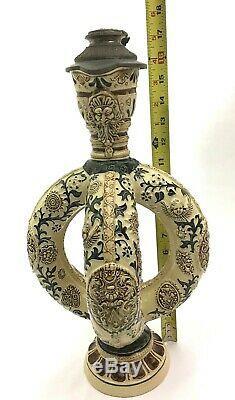 Antique German Double Ring Jug Krug Westerwald Ewer Beer Stein NOT Mettlach GIFT
