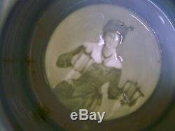 Antique German Germany WW1 1900-03 Cavalry Lidded Litho Porcelain Beer Stein Mug