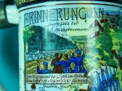 Antique German Germany WW1 1905 19 Regiment Prizm Litho Porcelain Beer Stein Mug