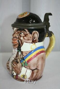 Antique German Geschutzt 1005 Minstrel Beer Stein