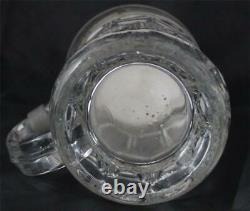 Antique German Glass Beer Stein Parian Sculptural Lid Young Bacchus c1860s