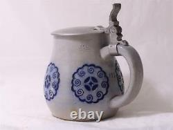 Antique German Jugendstil Art Nouveau Beer Stein Steinzeug Coblenz #123 c. 1910s