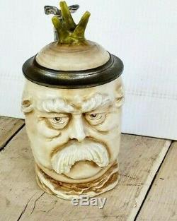 Antique German Musterschutz Rare Radish Bismark Character Beer Stein