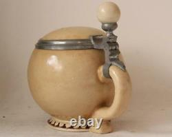 Antique German Porcelain Character Beer Stein Bowling Ball by Schierholz c. 1890