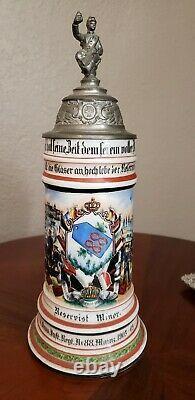 Antique German Regimental Beer Stein