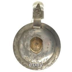 Antique German Regimental Beer Stein Saxony Picklehaube Spiked Helmet Lid 1899