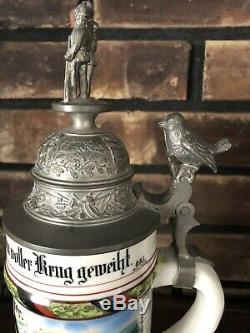 Antique German Regimental Beer Stein Wurtt Inf. Rgt #127 Ulm c. 1903-05 Military
