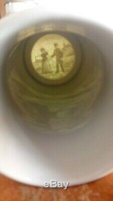 Antique German Regimental Lithopane Beer Stein With Cannon LID