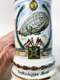 Antique German Regimental Military Litho Lidded Beer Stein