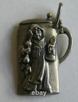 Antique German Silver Beer Stein Oktoberfest Münchner Kindl Souvenir Charm