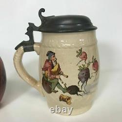 Antique German Villeroy and Boch Mettlach Beer Stein, Geschutzt #1033, 2333