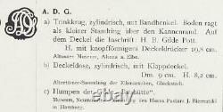 Antique German Westerwald Stoneware Beer Stein Walzenkrug Incised Decor c. 1750s