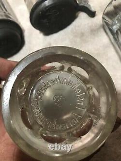 Antique German glass lidded beer Stein mug Erste Kulmbacher Bierhalle