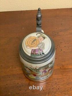 Antique German hand-painted beer stein