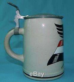 Antique Germany WW1 1914-15 German Eagle Ceramic Lidded Beer Stein Mug
