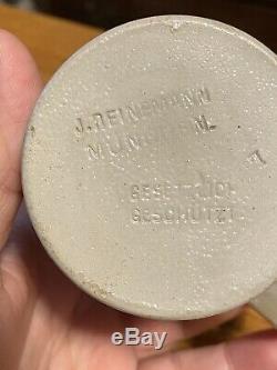 Antique Gesetzlich Geschutzt Reinemann German Beer Stein figural character RARE